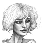Lucía - retrato al grafito . Un proyecto de Dibujo a lápiz y Dibujo de Olivia Suero - 08.04.2020