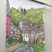 Mi Proyecto del curso: Creación de paletas de color con acuarela. A Street Art, and Watercolor Painting project by Briah Bat Aryeh - 04.10.2020