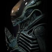 Alien Xenomorph rezando. Un projet de 3D, Sculpture, Cinéma , et Modélisation 3D de Juan Novelletto - 13.04.2020