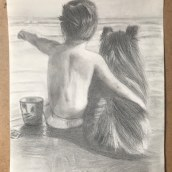Dibujo a lápiz de grafito . A Pencil drawing project by Isabel Pedrosa - 04.13.2020