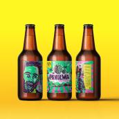 LABEL IPANDEMIA CRAFT BEER. Un proyecto de Diseño gráfico, Ilustración y Packaging de Alvaro José Franco Rivera - 14.04.2020
