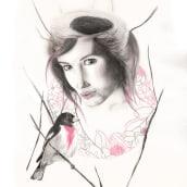 Autoretrato. Un proyecto de Ilustración, Bellas Artes, Dibujo a lápiz, Dibujo, Ilustración de retrato, Dibujo de Retrato, Dibujo realista y Dibujo artístico de Helena de la Cruz - 14.04.2020