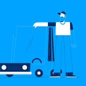 Car Lover. A Design, Motion Graphics, Animation, and Character animation project by Manuel Neto - 04.16.2020