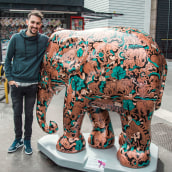 ELEPHANT PARADE // ART EXHIBITION. A Illustration, Fine Art, Painting, Street Art, and Artistic drawing project by Mauro Martins - 04.16.2020