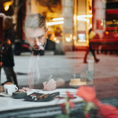 Fotos de rodaje del curso de Alex Hillkurtz. A Malerei, Zeichnung, Porträtfotografie, Aquarellmalerei und Studiofotografie project by Irene Serrat Roura - 17.04.2020