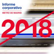 Maquetación y trabajos de diseño para la Memoria anual de Metro de Madrid (2018) (Colaboración). Un proyecto de Diseño, Diseño editorial y Diseño gráfico de José Antonio Arreza Pérez - 05.09.2019