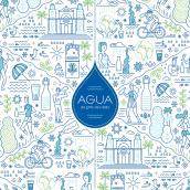 Aguas de Cádiz. A Design, Illustration, Graphic Design, Packaging, and Vector Illustration project by Rebombo estudio - 04.22.2020