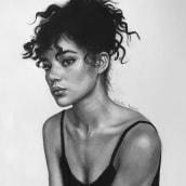 Mi Proyecto del curso: Retrato realista con lápiz de grafito. Un proyecto de Dibujo a lápiz, Dibujo, Dibujo de Retrato, Dibujo realista y Dibujo artístico de Yuliana Alvarez - 24.04.2020