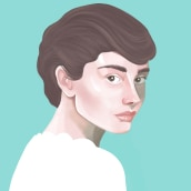My project in Digital Techniques for Illustrated Portraits course. Un proyecto de Dibujo, Ilustración digital, Ilustración de retrato y Dibujo digital de Monika Klicz - 25.04.2020