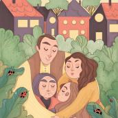 Together. Um projeto de Ilustração, Ilustração digital, Desenho digital e Pintura digital de Marta Ronci - 20.04.2020