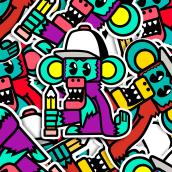 STICKERS. Un proyecto de Ilustración, Br, ing e Identidad, Diseño gráfico, Ilustración digital y Diseño digital de Marc Calvo - 26.04.2020