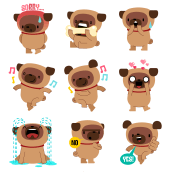 Janjo the Pug. Un projet de Character Design de Fabio Rex - 26.04.2020