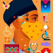Essential Workers Series. A Digital illustration project by Samuel Rodriguez - 04.28.2020