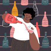 Punch - Sparkling Wine. Un progetto di Illustrazione digitale e Illustrazione di Carmela Caldart - 30.03.2020