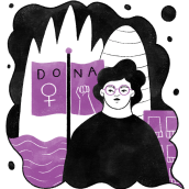 Time Out Barcelona - 8M 2020. Un progetto di Illustrazione digitale e Illustrazione di Carmela Caldart - 08.03.2020