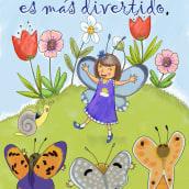 Portada Mariposas. Um projeto de Ilustração, Design de personagens, Design editorial, Artes plásticas, Design gráfico, Ilustração digital e Ilustração infantil de Isabel Martín - 01.05.2020