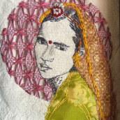 Rostro de India. Un proyecto de Bordado de Consuelo Mardones Mödinger - 02.05.2020