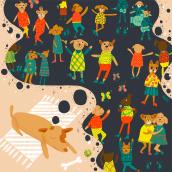 Mi Proyecto del curso: Ilustración digital con texturas en Photoshop. Un progetto di Illustrazione digitale di Victoria Dhios - 03.05.2020