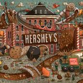 Hershey's Chocolate World. Um projeto de Ilustração e Ilustração digital de Victor Beuren - 04.05.2017