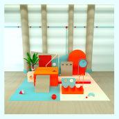 Mi Proyecto del curso: Composiciones abstractas con Cinema 4D. A 3D project by helena miralpeix - 05.05.2020