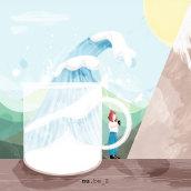 La ola. Un proyecto de Ilustración digital de Nuria Berruezo Sanchez - 01.05.2020
