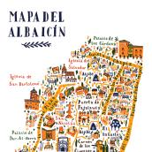 Mapa del Albaicín. Un projet de Illustration de Ángela Alcalá Alcalde - 07.03.2018