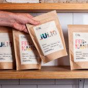 La Noria Coffee Project. A Br, ing und Identität, Grafikdesign und Verpackung project by James Eccleston - 07.05.2020