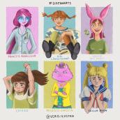 Mi reto #SixFanarts. A Digital illustration project by Verónica Cámara Beviá - 05.07.2020