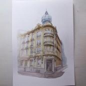 Mi Proyecto del curso: Dibujo arquitectónico con acuarela y tinta. A Aquarellmalerei project by Bocana Creativa - 07.05.2020