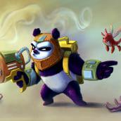 Panda Bear vs Little Monster. A 2D Animation project by ejr_04 - 05.07.2020
