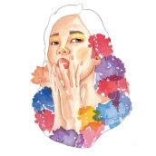 Mi Proyecto II del curso: Retrato ilustrado en acuarela. Un projet de Illustration et Illustration de portrait de Inma Velasco Aguayo - 10.05.2020