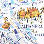 Mapa de Granada.. Un projet de Illustration et Illustration numérique de Ángela Alcalá Alcalde - 11.03.2019