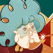 "Ilustración ""Hablar protege"" . Un projet de Character Design et Illustration de Ángela Alcalá Alcalde - 19.11.2018"