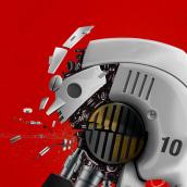 Robot/Skull. Um projeto de Ilustração, Design de personagens e Desenho digital de Julio Ríos - 12.05.2020