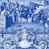 Cuando Lisboa Tembló/ Book Cover. A Aquarellmalerei und Digitale Zeichnung project by Silja Goetz - 13.05.2020