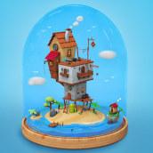 Mi Proyecto del curso: Creación de mundos 3D en miniatura con Procreate y Cinema 4D. A 3D & Illustration project by alicamo - 05.14.2020