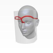 Visor Pandémico. A Design, 3D, Industrial Design, Product Design, 3d modeling, Design 3D, and Digital Design project by Ninio Mutante - 03.27.2020