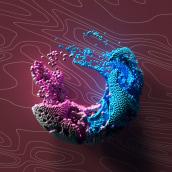 O Particulas. A 3-D, Kunstleitung, T, pografie, T und pografisches Design project by Erich Gordon - 13.05.2020