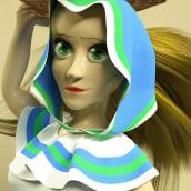 Basket Girl, 3D Character Development. Un proyecto de 3D, Animación 3D y Diseño de personajes 3D de Jorge Moreno - 17.05.2020