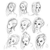 Bocetos diseño personajes infantil juvenil. Un proyecto de Ilustración, Diseño de personajes, Ilustración infantil y Diseño digital de Rebeca Castillo - 18.05.2020