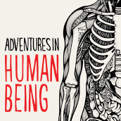 Cover illustration and typography for Adventures in Human Being by Gavin Francis. A Illustration, T, and pograph project by Sarah King - 07.11.2017