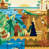 Jornadas sobre la Sequía. A Illustration, Br, ing, Identit, Graphic Design, and Poster Design project by Rebombo estudio - 05.20.2020