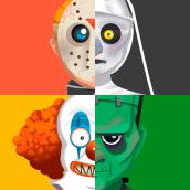 Instagram Halloween Game. Un proyecto de Ilustración, Publicidad, Diseño de juegos, Creatividad y Concept Art de Amparo Madera Albors - 20.05.2020