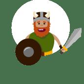 Warrior Character Design /Guerrero, Diseño de Personaje . Un proyecto de Diseño de personajes, Animación de personajes e Ilustración digital de Nathalie Amaro - 21.05.2020