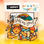 Giphy - We're in this together!. A Motion Graphics, Animation, Character animation, and 2D Animation project by Orlando Korzo - 05.23.2020