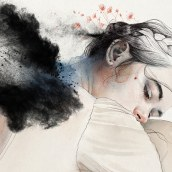"""PRENDER LAS ALAS"". A Digital illustration, Watercolor Painting, Portrait illustration, Portrait Drawing, and Digital Drawing project by Elena Garnu - 05.23.2020"