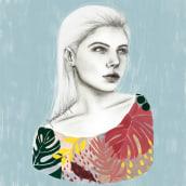 Meu projeto do curso: Retrato com lápis, técnicas de cor e Photoshop. Un projet de Illustration, Illustration d'encre et Illustration de portrait de Fernanda Serafim - 24.05.2020