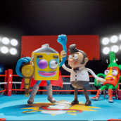 Got Milk? - Wrestlers. A Character Design, Stop Motion, Stor, and telling project by Becho y MAB _ Can Can Club - 05.25.2020
