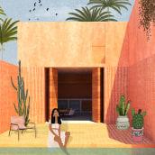 My project in Architectural Visualization Using Digital Collage course. Un proyecto de Arquitectura, Modelado 3D, Diseño 3D e Ilustración arquitectónica de Luciane Giusti - 27.05.2020