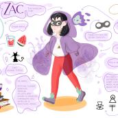 Zac y Yoyo por MariaLopezCreative. Un projet de Illustration, Animation, Character Design, Conception de jeux vidéo, Développement de jeux vidéo , et Conception d'applications de María López - 29.05.2020